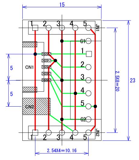 接続基板外形図