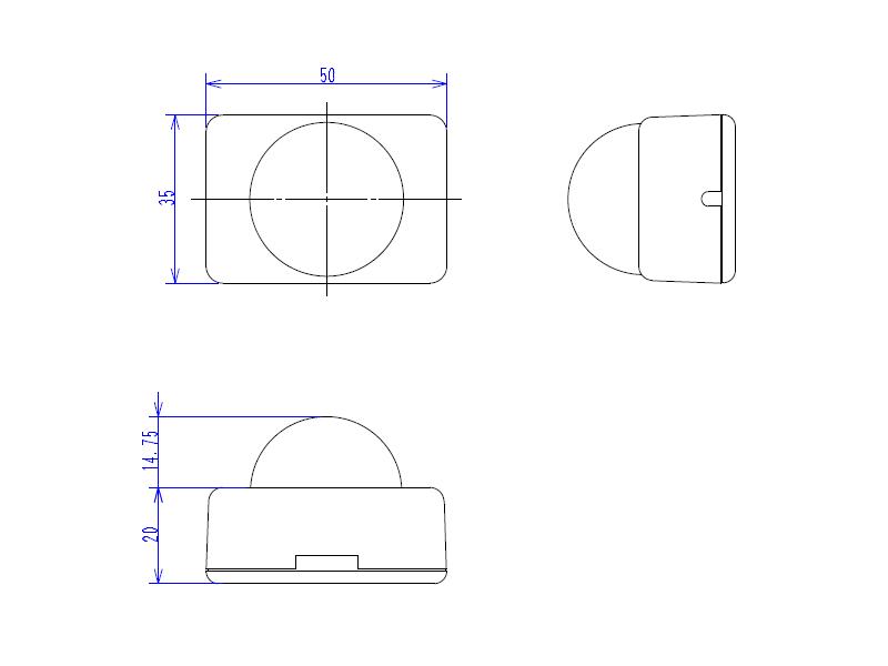 IR発光ユニット外形図