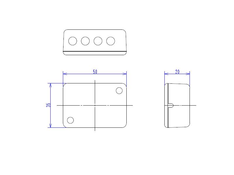 IR発光・出力拡張ユニット外形図