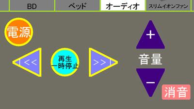 ボタンの背景色・形状・配置は変更可